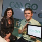 Múirne Laffan, Managing Director of RTÉ Digital and John Collison, President and Co-Founder of Stripe pictured at the GAAGO stand at Web Summit