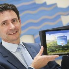 Digital and Innovation Director at Bank of Ireland, Garvan Callan is pictured with the Tablet Banking App