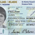 A sample of the new Irish Passport Card