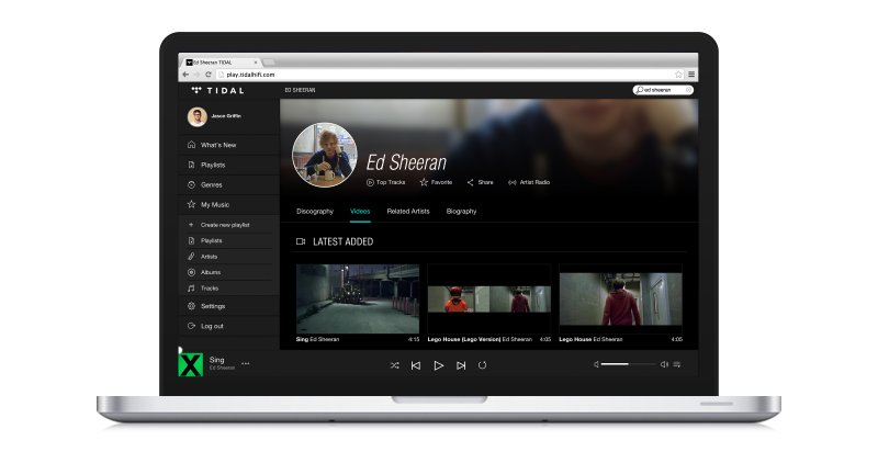 TIDAL web player