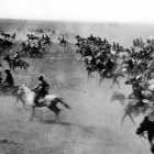 Oklahoma Land Rush 1889 (public domain)