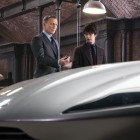 The Aston Martin DB10 revealed to James Bond (Daniel Craig) in Q's Workshop with Q (Ben Whishaw) in Metro-Goldwyn-Mayer Pictures/Columbia Pictures/EON Productions' action adventure SPECTRE.
