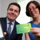 Minister for Transport, Tourism and Sport Paschal Donohoe & Anne Graham, CEO, National Transport Authority, pictured at the launch of the Leap Top-Up App which uses NFC to read and write to Leap Cards. Photo Credit: Philip Leonard