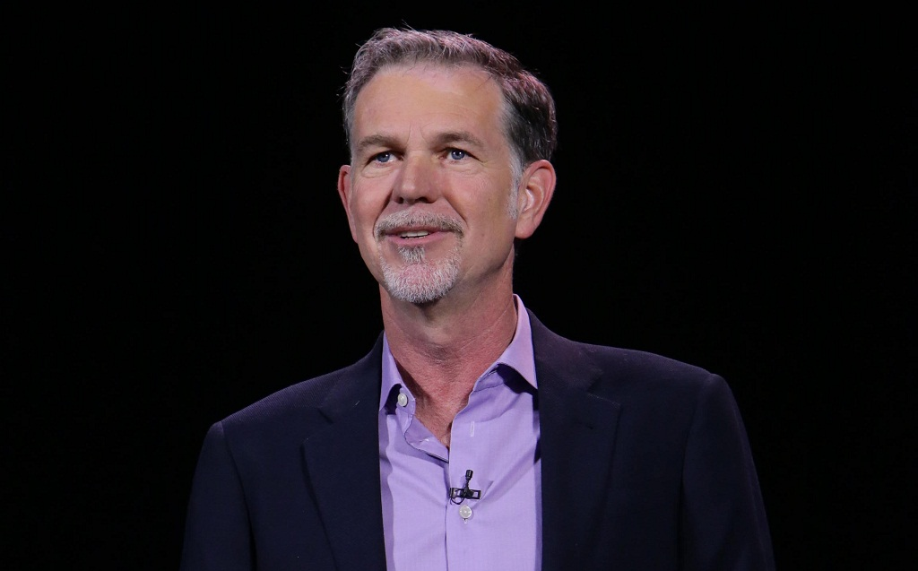 Netflix CEO Reed Hastings delivers a keynote address at CES last week.