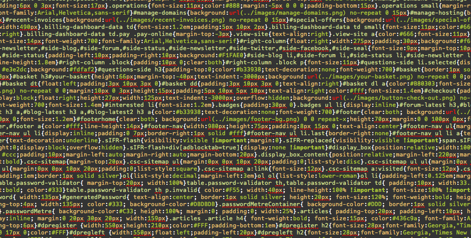 Generic CSS code image