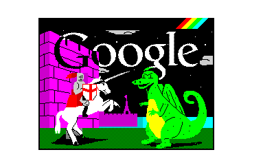 google doodle for Spectrum and St George's day