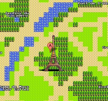 Eiffel Tower 8 bit Google Maps version