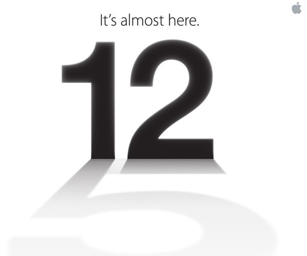 Apple's invite to a media event on September 12 2012