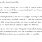 Tim Cook on Steve Jobs anniversary