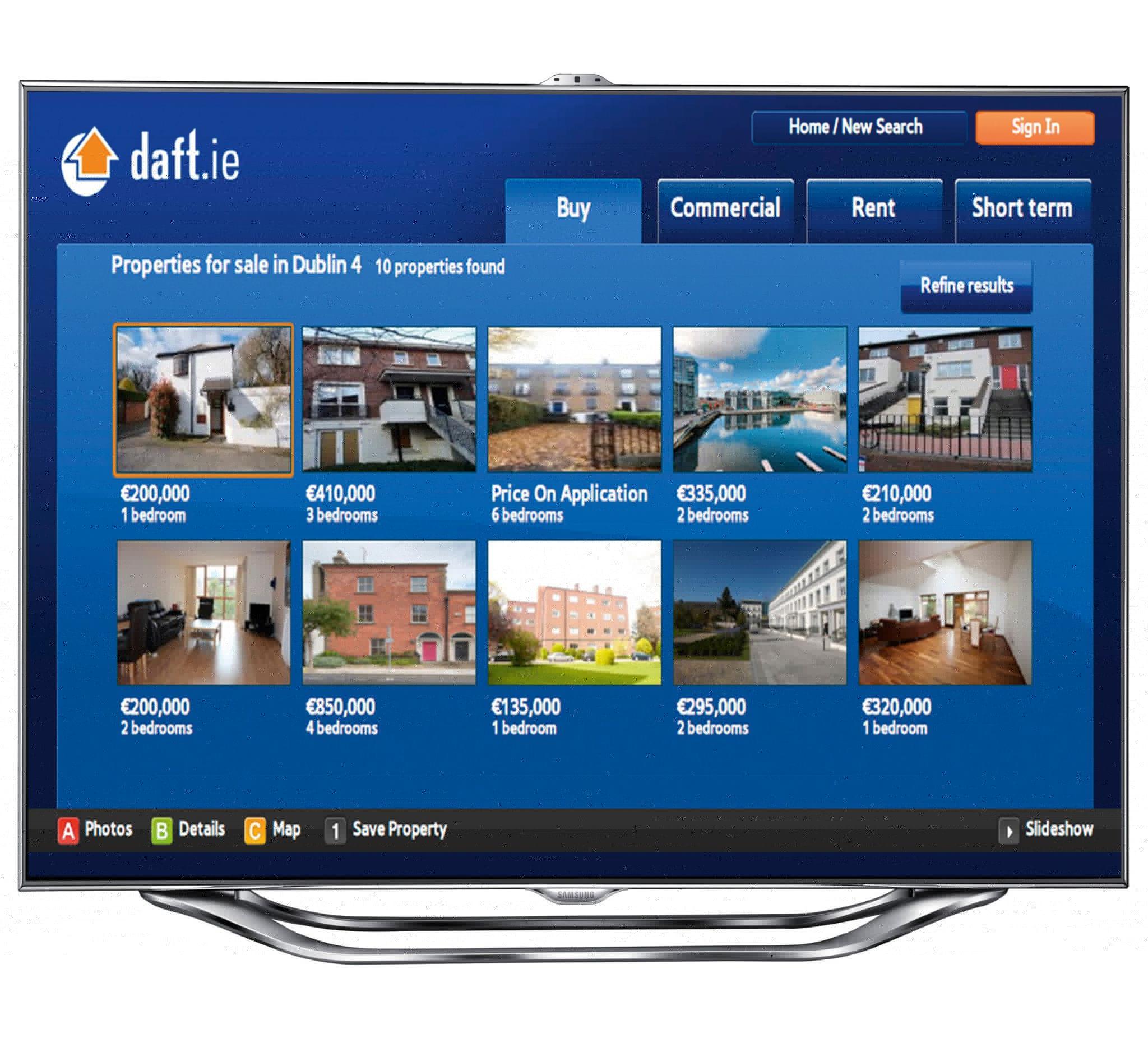 Daft ie Launch Smart TV App