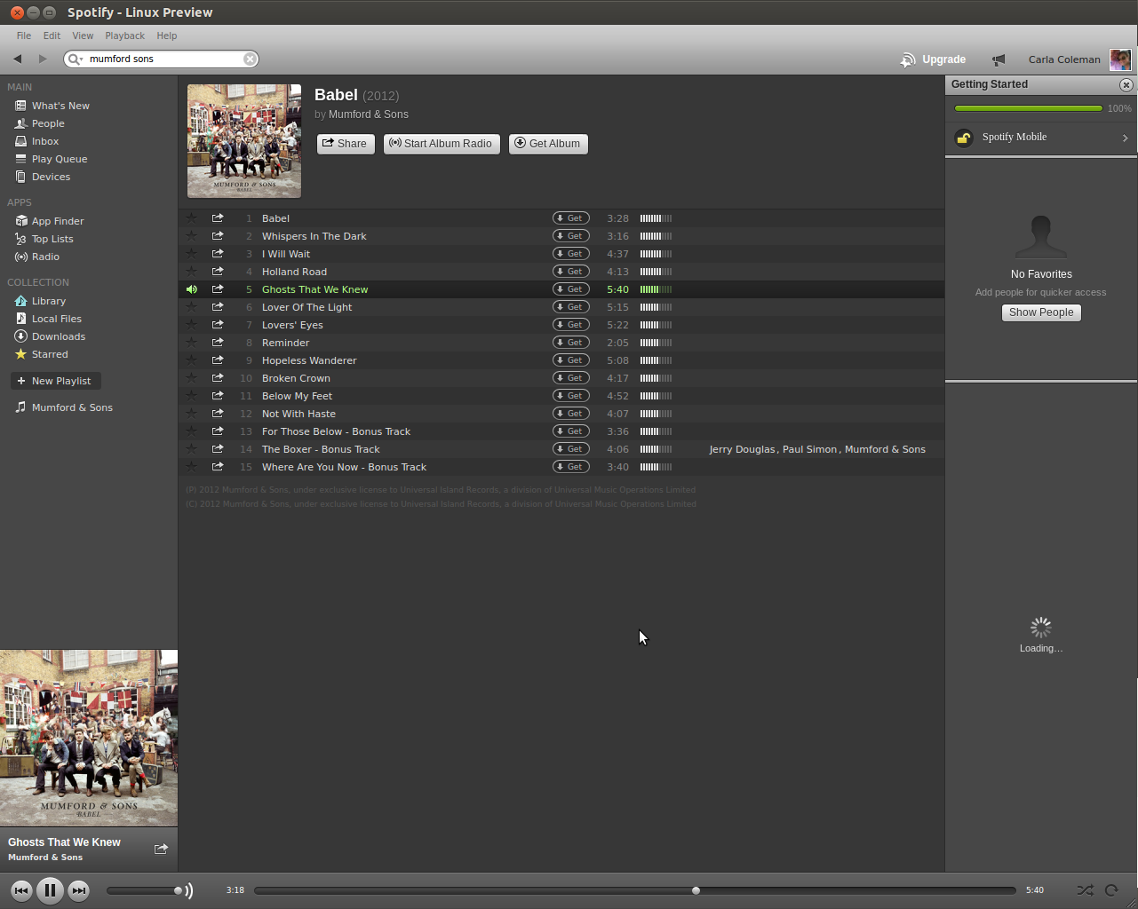 Spotify for Linux Preview