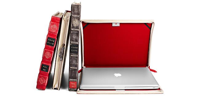 Macbook case shaped like a book - seen open