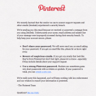 Pinterest security email