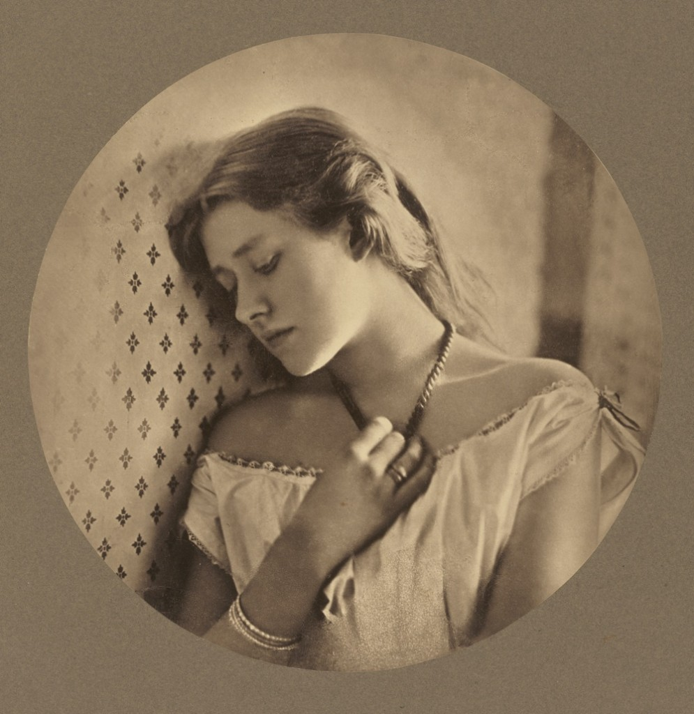 [Ellen Terry at Age Sixteen]; Julia Margaret Cameron, British, born India, 1815 - 1879; Freshwater, England, Europe; negative 1864; print about 1875; Carbon print; Image: 24.3 x 24.3 cm (9 9/16 x 9 9/16 in.), Mount: 32.1 x 32.1 cm (12 5/8 x 12 5/8 in.); 86.XM.636.1