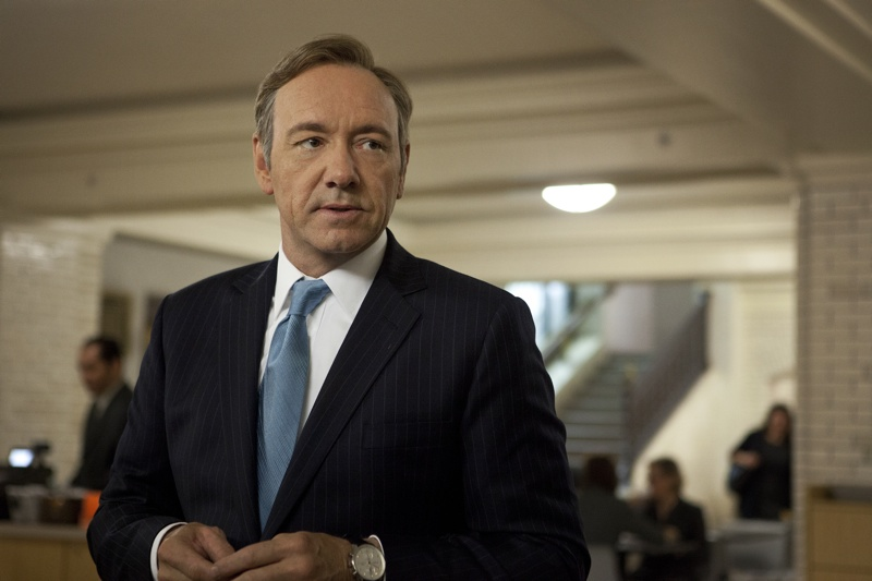 "Kevin Spacey in a scene from Netflix's ""House of Cards."" Photo credit: Melinda Sue Gordon for Netflix."