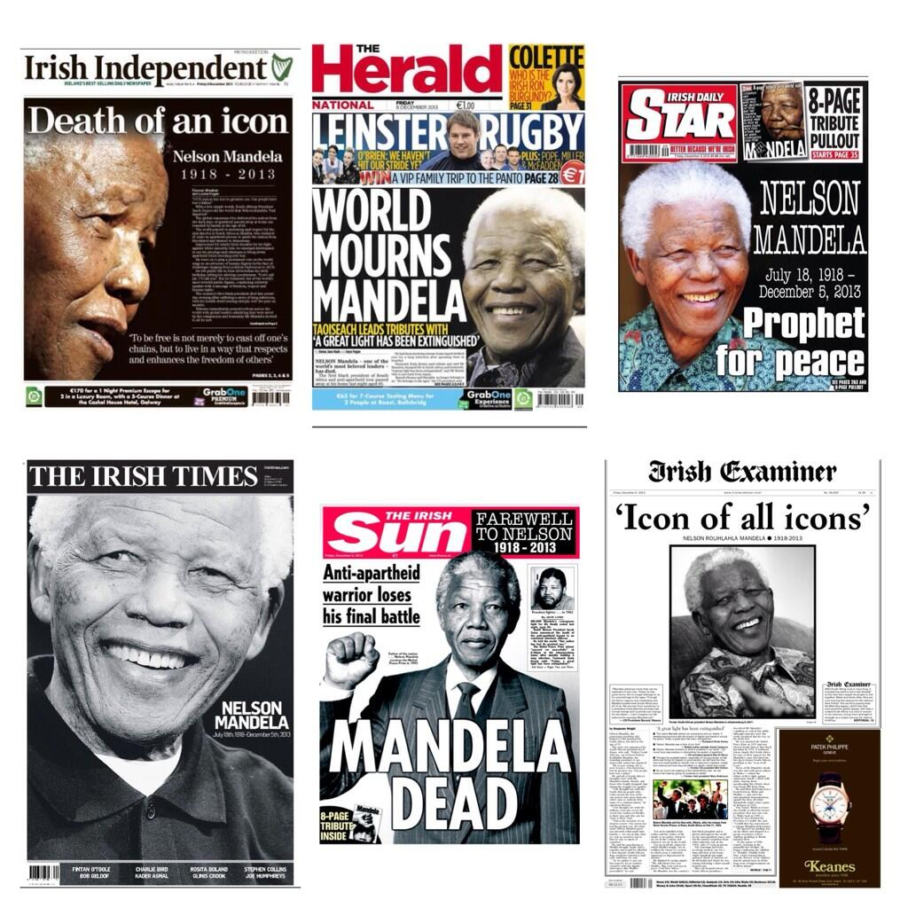 Friday 6 December 2013 Irish newspaper front pages