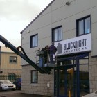 The new sign goes up at Blacknight HQ