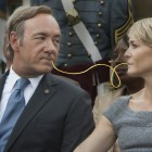 Yummy! Kevin Spacey and Robin Wright share a passion for pasta.