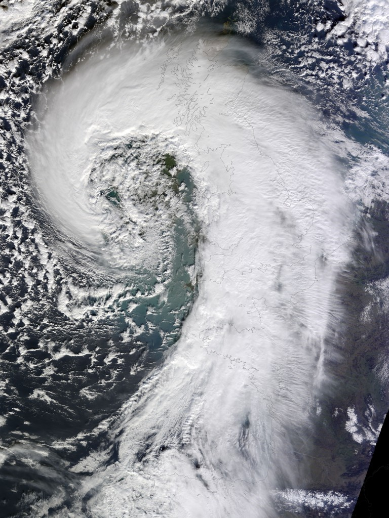 Satellite Image of Storm Darwin over Ireland, 12 February 2014