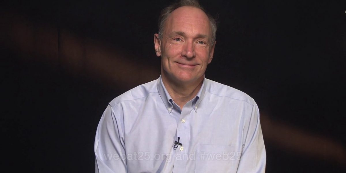 Video thumbnail for vimeo video As the Web Turns 25, Tim Berners Lee calls for an Online Magna Carta