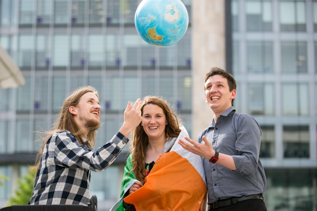 Microsoft Imagine Cup world finalists from Ireland: Matthew McCann; KC Grant and Jack Gallagher of NUI Maynooth. Pic:Naoise Culhane