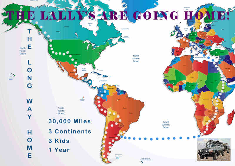 The Lally's Long Way Home