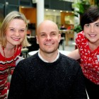 Graduates Hilary Cotter and Sarah Gavra Boland are pictured with self-defined collaborative catalyst and explorer Mark Pollock at the graduation ceremony for Enable Ireland's Assistive Technology training programme in Microsoft Ireland's campus in Sandyford. In addition to hosting the graduation ceremony, Microsoft also gave Enable Ireland a software donation worth €1.3 million. Photo Credit: Maxwells, Dublin