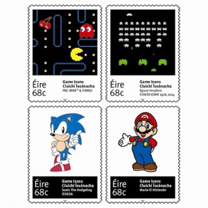 Game Icons commemorative stamps from An Post