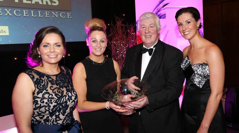 Patricia Callan, Director, SFA, Jacklyn O' Connor, Michael Keohane and Ciara Burke, all from Keohane Seafoods, who were winners of SFA National Small Business Overall Award