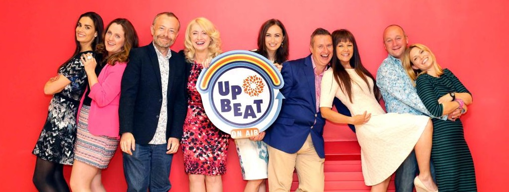 Upbeat On-Air's Celebrity Crew of Volunteers promoting positive mental health