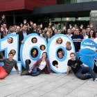 AdRoll hires 100th employee ahead of schedule and celebrates first birthday in Ireland. AdRoll announced its EMEA headquarters at last year's Web Summit and has seen 300% growth in its first year of EMEA operations. Picture Jason Clarke Photography.