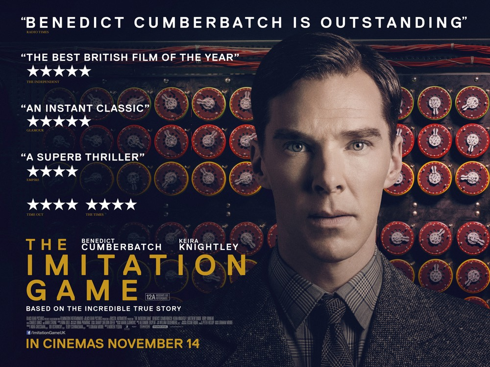 UK poster artwork for THE IMITATION GAME, in cinemas November 14th.