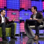 Dana Brunetti and Matt Garrahan on stage at Web Summit. Image Credit: Web Summit / Sportsfile