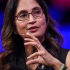 Padmasree Warrior, Cisco's Chief Technology & Strategy Officer speaking at Web Summit. Image: Web Summit / Sportsfile