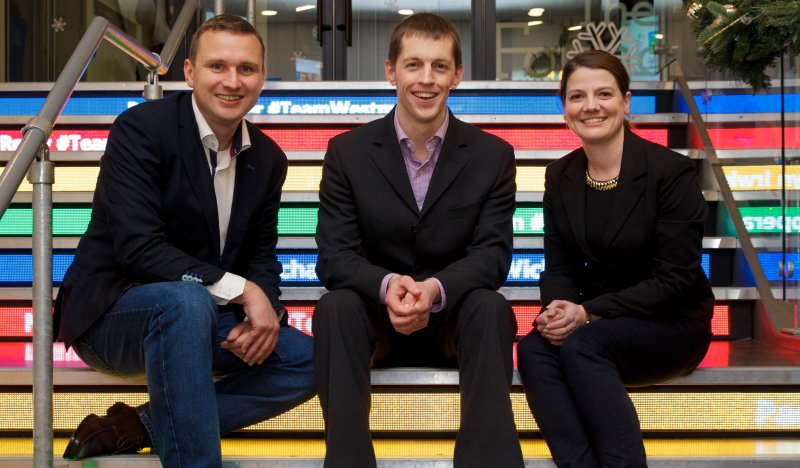 Colin Goulding, Head of SMB Publishers, EMEA, Online Partnerships Group, Google; Padraig O'Scanaill, Fund Recs, winner of Best Online Promotion of a Business Award; and Valerie Legrand, Ads Quality Operations Vendor Manager, EMEA, Google