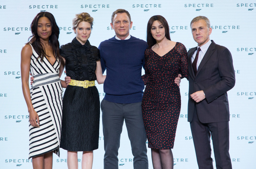 "Eon Productions, Metro-Goldwyn-Mayer and Sony Pictures Entertainment announce the 24th James Bond adventure "" SPECTRE. "" Pictured: (L to R)  Naomie Harris, Léa Seydoux, Daniel Craig, Monica Bellucci and Christoph Waltz."