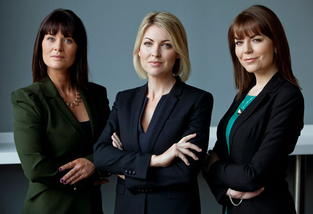 Claire Brock, Sarah O'Connor and Sinead O'Donnell, who were recently appointed to the UTV Ireland news team. The new station will go on air on January 1.