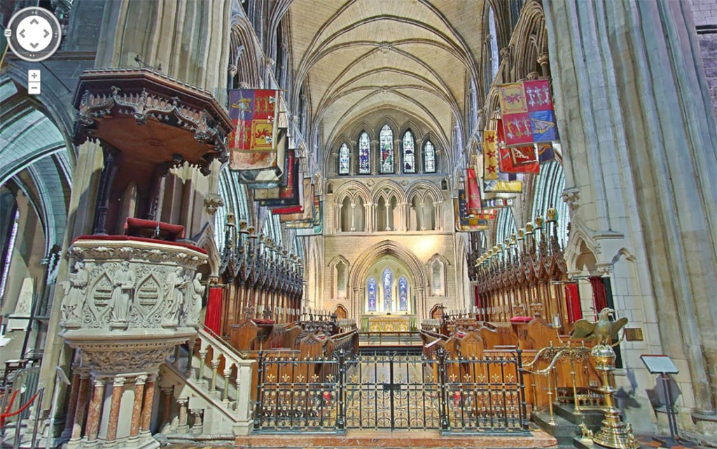 Interior of St Patrick's Cathedral, on Google Street View