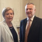 Minister for Justice, Frances Fitzgerald TD meeting Paul Durrant, CEO ISPAI, today . Picture Credit: Department of Justice