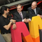 Gonzalo Martin-Villa, Global Director of Wayra, Telefonica Digital; An Taoiseach, Enda Kenny TD; and Tony Hanway, CEO, Telefonica Ireland pictured at the launch of Wayra Ireland in 2012