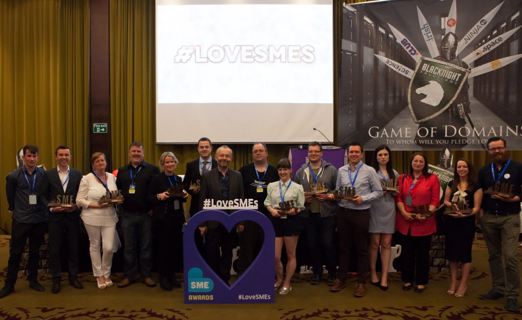 The Winners of the 2015 Blacknight SME Awards. Photo Credit: Ryan Whalley