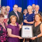 Recovery Haven, winners of the Overall Award at the Dairymaster Rural Innovation Awards, with Dairymaster CEO Dr Edmond Harty