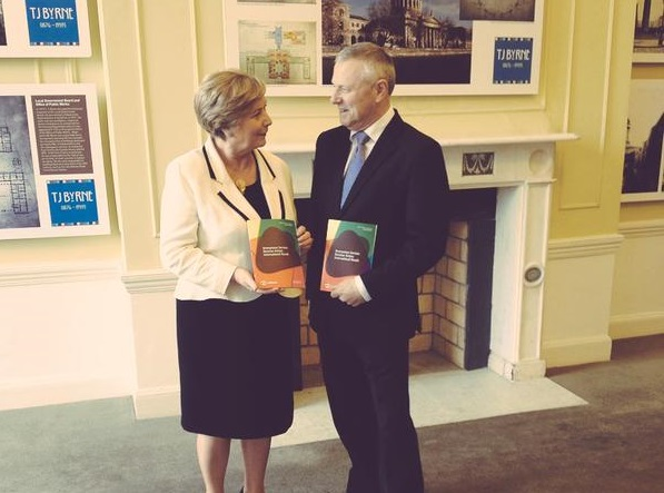 The Minister for Justice & Equality, Frances Fitzgerald TD, with Paul Durrant, CEO ISPAI and manager of Hotline.ie at the launch of Hotline's 2015 Annual Report