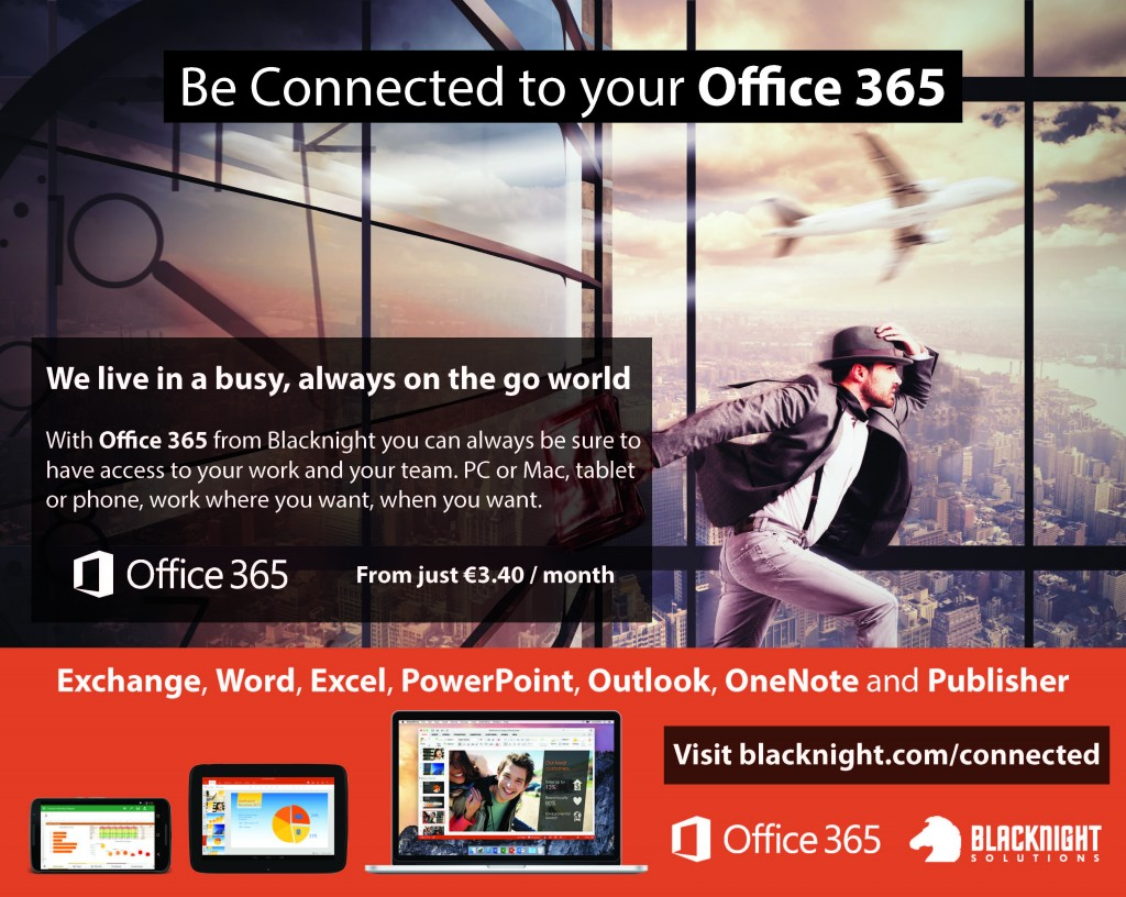 Office 365 from just €3.40/month with Blacknight