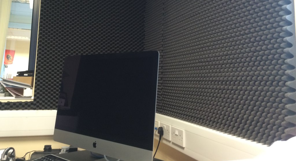 Acoustic treatment in Michele Neylon's office