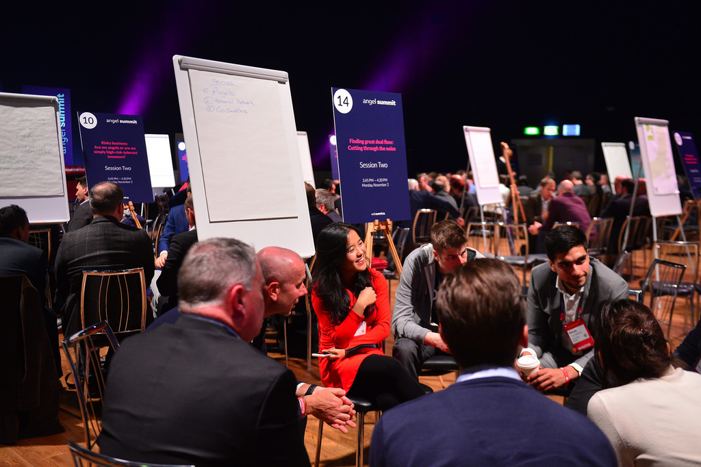 Participants at Monday's Angel Summit ahead of the main event. Photo Credit: Web Summit/Sportsfile