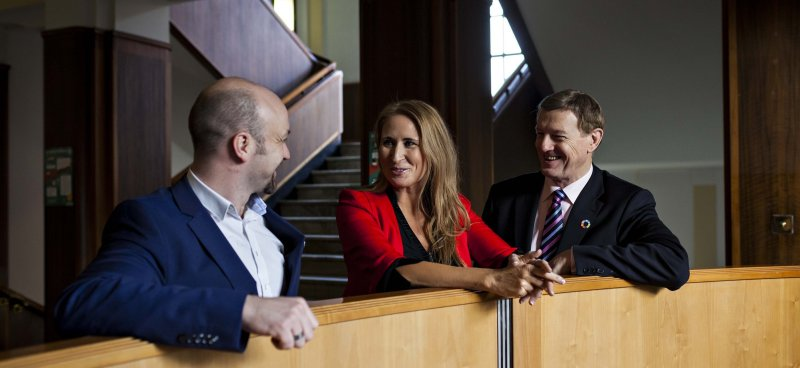Pictured at the launch of GEN Ireland's Calendar of Activities are (l-r): David Bradley, Director, GEN; Maree Helena, Co-founder, GEN Ireland; and Frank Roche, Chairman, Dublin Business Innovation Centre.