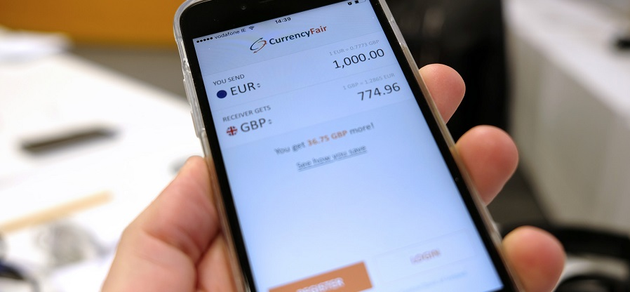 CurrencyFair's iOS app