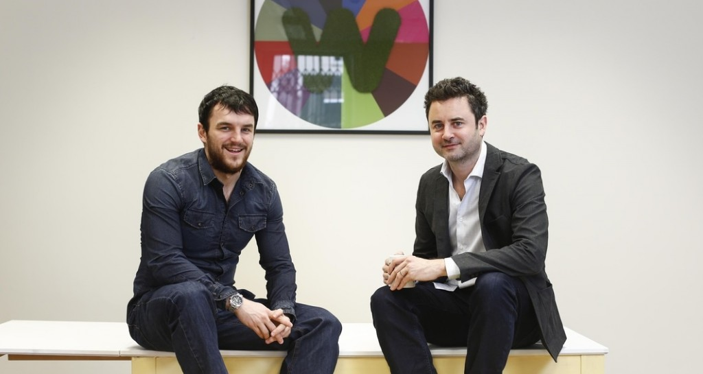 Newswhip co-founders Andrew Mullaney and Paul Quigley. Picture Conor McCabe Photography