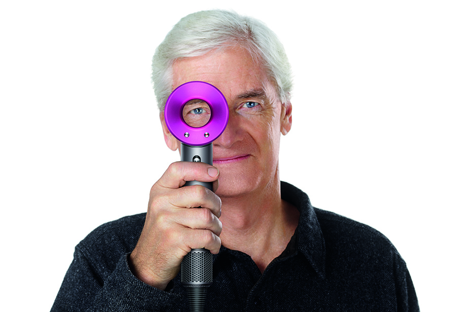 James Dyson with the The Dyson Supersonic™ hair dryer